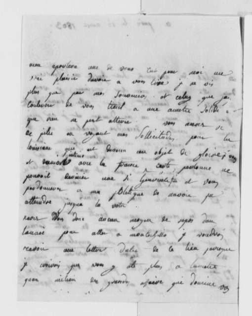 Madame de Corny to Thomas Jefferson, August 15, 1803, in French