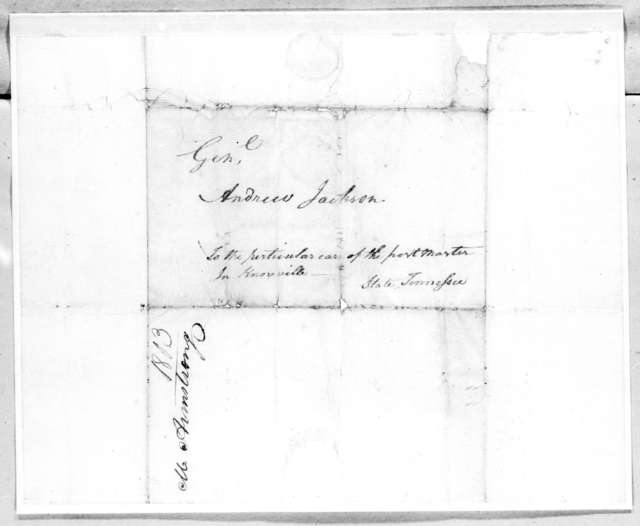 Martin Armstrong to Andrew Jackson, August 29, 1803