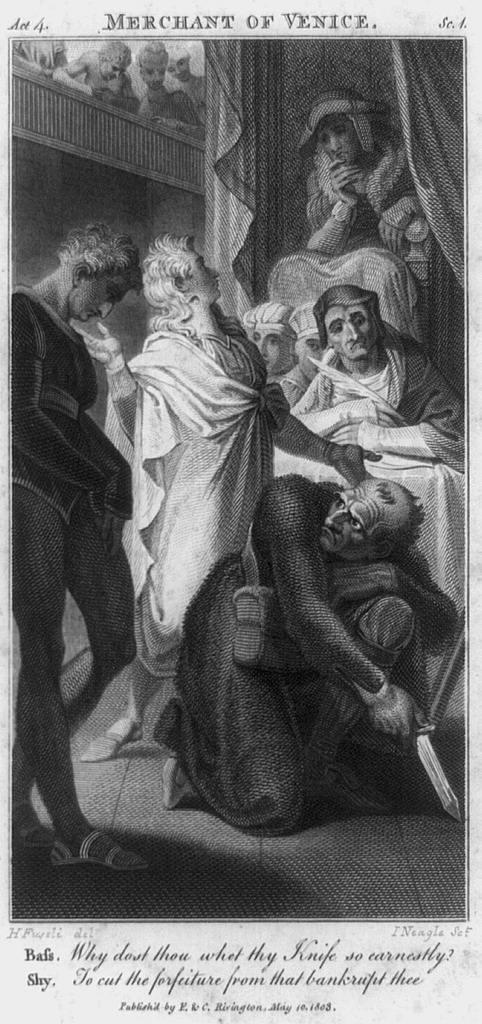 Merchant of Venice, Act 4, Sc. 4 / H. Fuseli, del. ; I. Neagle, sct.