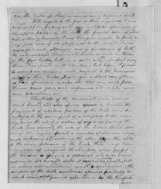 Meriwether Lewis to Thomas Jefferson, October 3, 1803