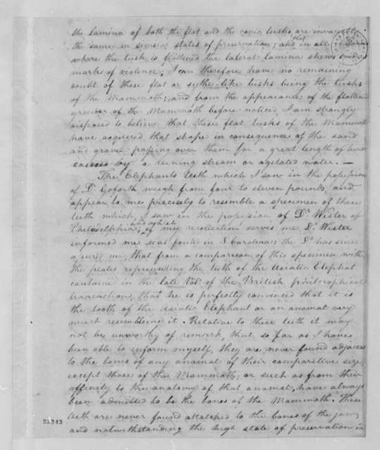 Meriwether Lewis to Thomas Jefferson, October 3, 1803