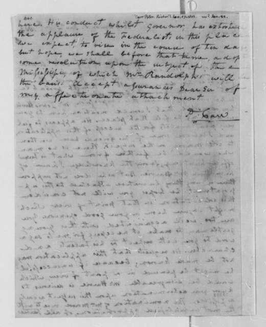 Peter Carr to Thomas Jefferson, January 17, 1803