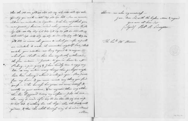 Robert Livingston to James Monroe, September 11, 1803. Part in cipher and copy.