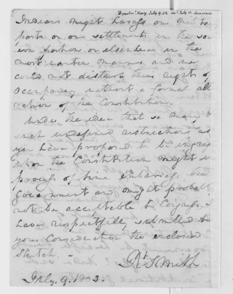 Robert Smith to Thomas Jefferson, July 9, 1803