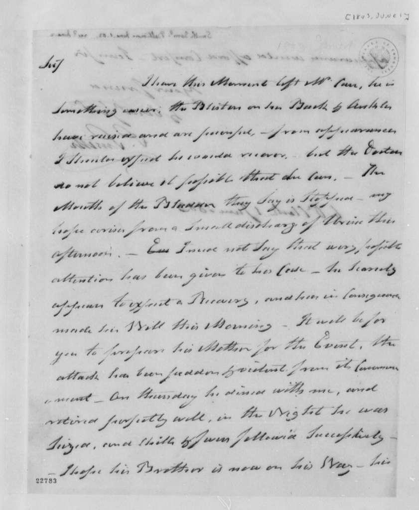 Samuel Smith to Thomas Jefferson, June 1, 1803