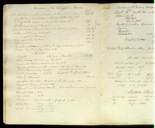 [Specifications for a chapel in Boston]