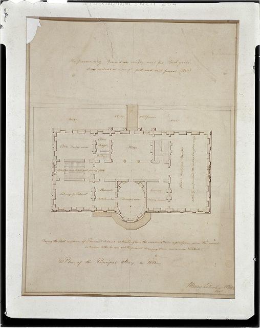 "[The White House (""President's House"") Washington, D.C. Principal story, measured floor plan]"
