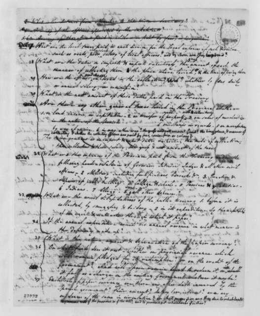 Thomas Jefferson, 1803, Queries on Louisiana, Draft and Copy