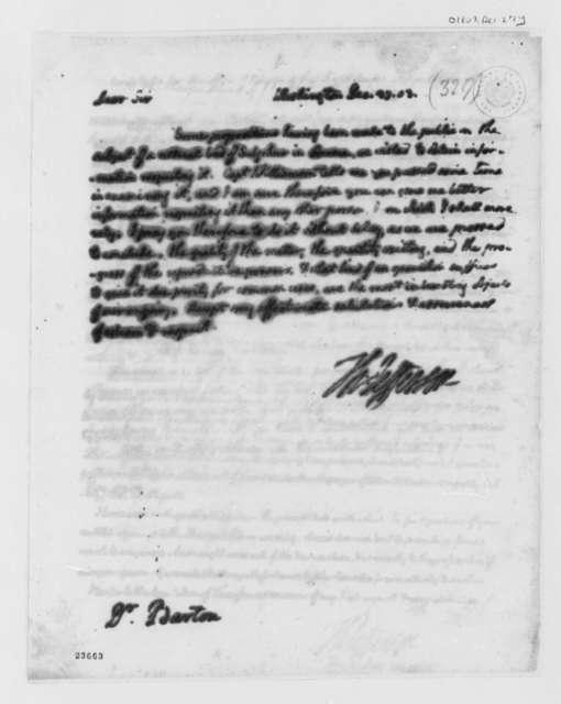 Thomas Jefferson to Benjamin Smith Barton, December 27, 1803