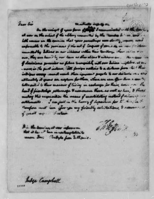 Thomas Jefferson to David Campbell, September 19, 1803