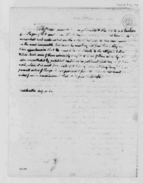 Thomas Jefferson to David Jackson, August 11, 1803