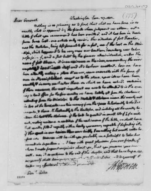 Thomas Jefferson to Horatio Gates, January 27, 1803