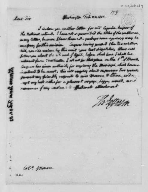 Thomas Jefferson to James Monroe, February 25, 1803