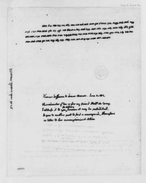 Thomas Jefferson to James Monroe, June 5, 1803, Cipher