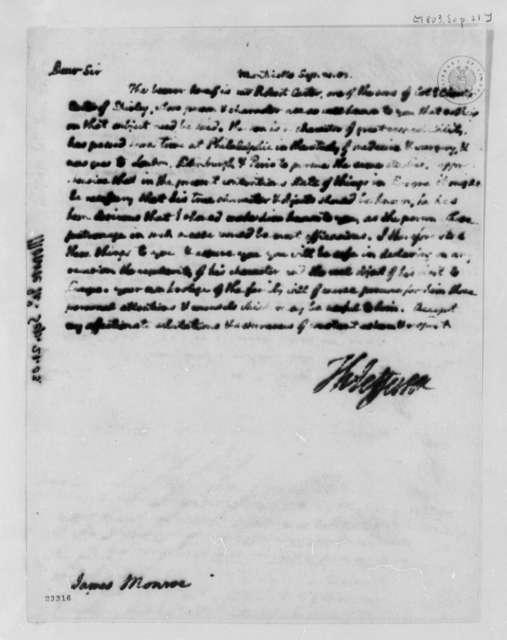 Thomas Jefferson to James Monroe, September 21, 1803