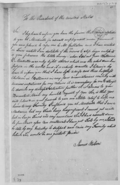 Thomas Jefferson to James Wilson, September 30, 1803