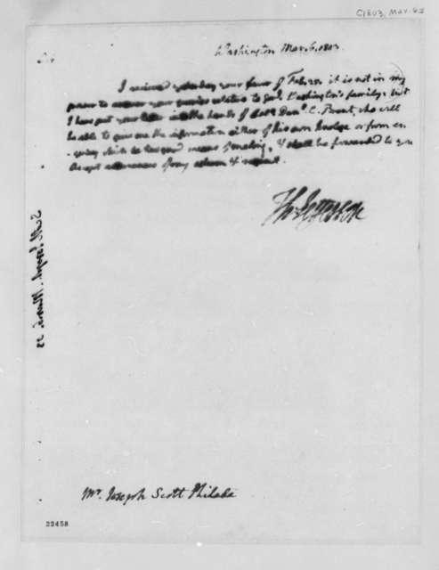 Thomas Jefferson to Joseph Scott, March 6, 1803