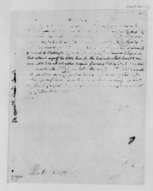 Thomas Jefferson to Lewis Harvie, March 17, 1803, Partly Illegible