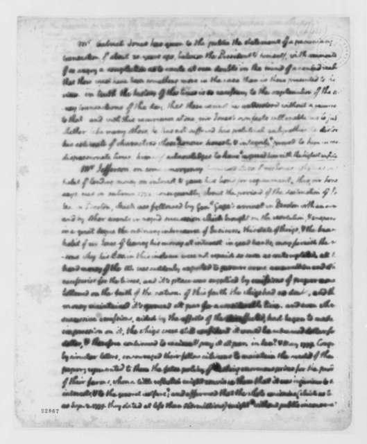 Thomas Jefferson to Meriwether Jones, June 18, 1803, with Statement
