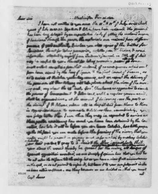 Thomas Jefferson to Meriwether Lewis, November 16, 1803