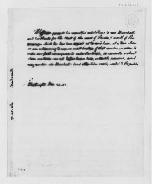 Thomas Jefferson to N. Marshall, December 24, 1803