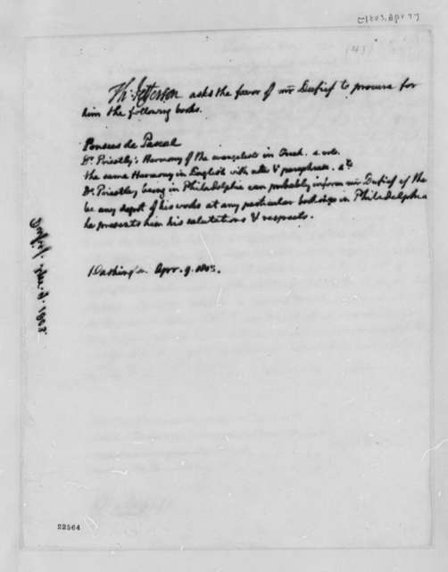 Thomas Jefferson to Nicholas Gouin Dufief, April 9, 1803