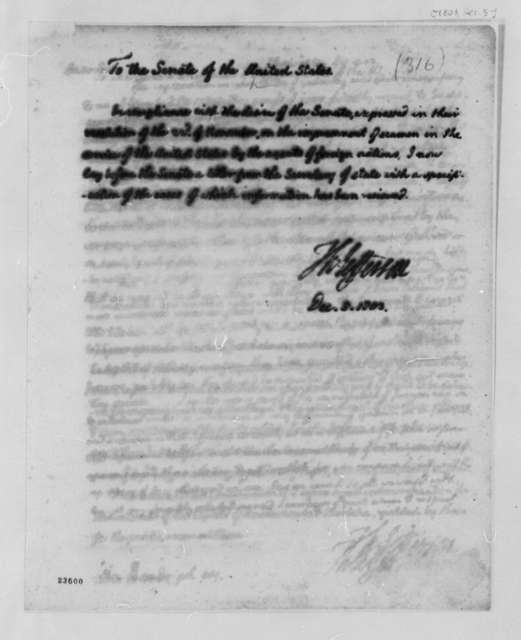 Thomas Jefferson to Senate, December 5, 1803