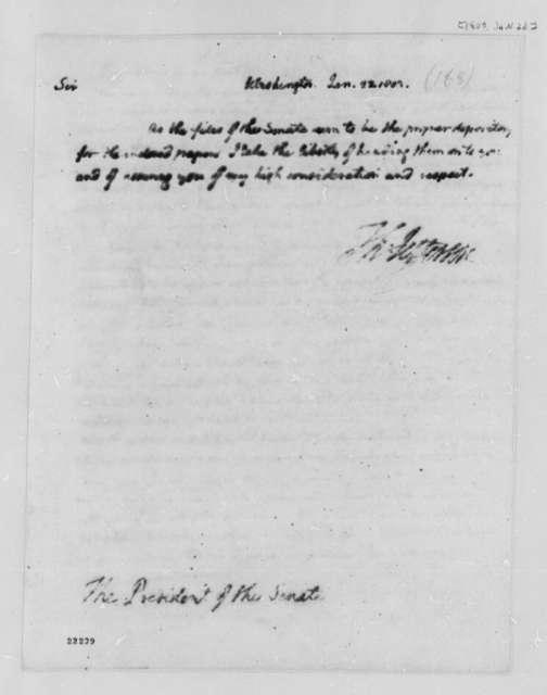 Thomas Jefferson to Senate, January 22, 1803