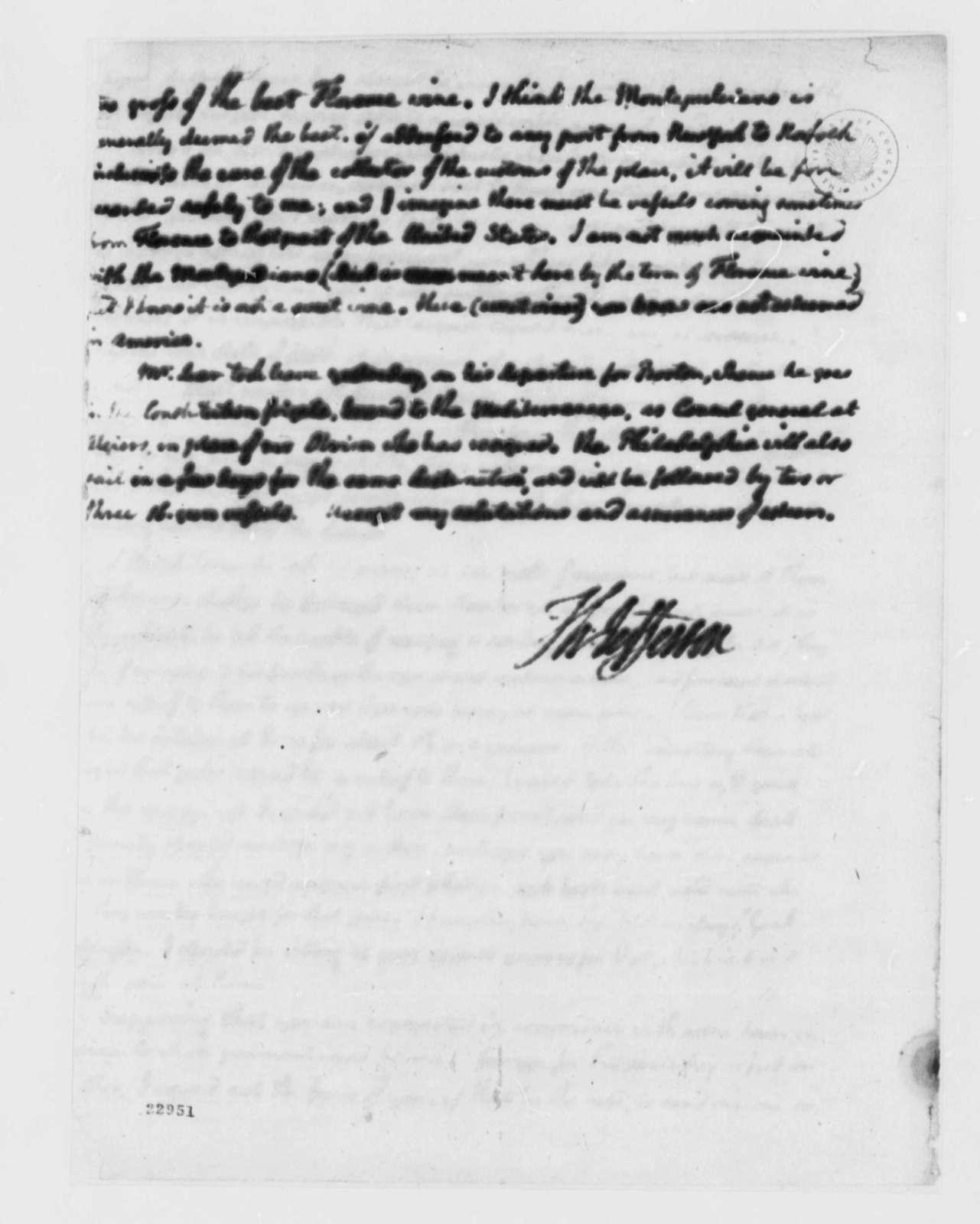 Thomas Jefferson to Thomas Appleton, July 5, 1803