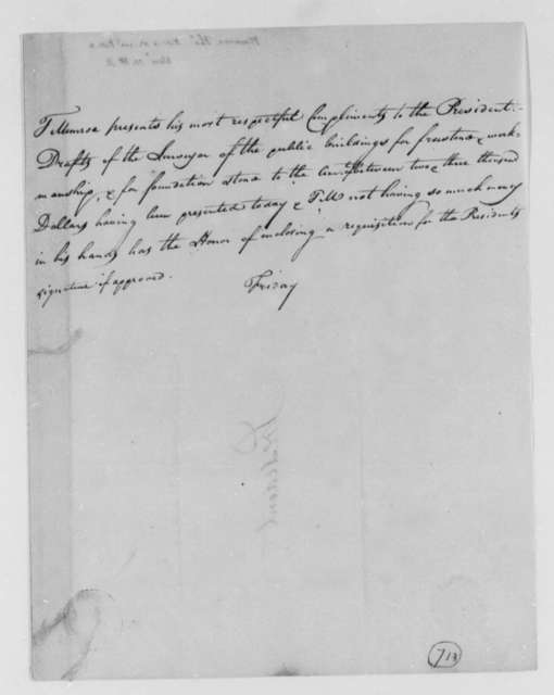 Thomas Munroe, Superintendent of the City to Thomas Jefferson, November 4, 1803