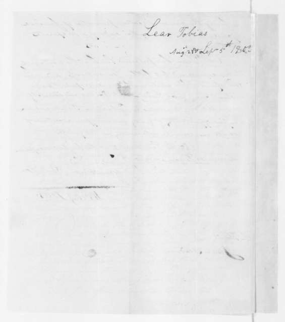 Tobias Lear to James Madison, August 23, 1803. With Sept 5,1803 postscript.
