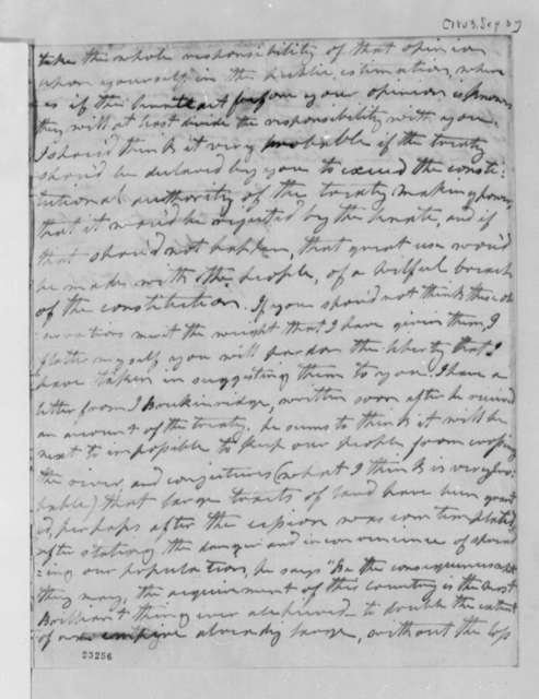 Wilson Cary Nicholas to Thomas Jefferson, September 3, 1803
