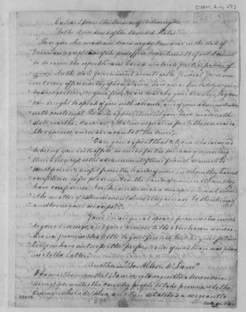 Allen Mclane, August 27, 1804, Extracts on Dismissal