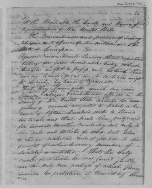 Andrew Jackson, et al to Congress, December 1804, Remonstrance