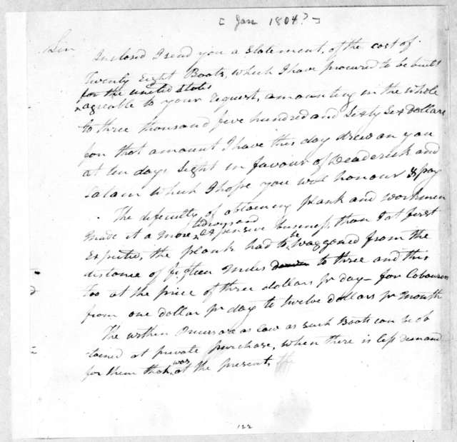 Andrew Jackson to Henry Dearborn
