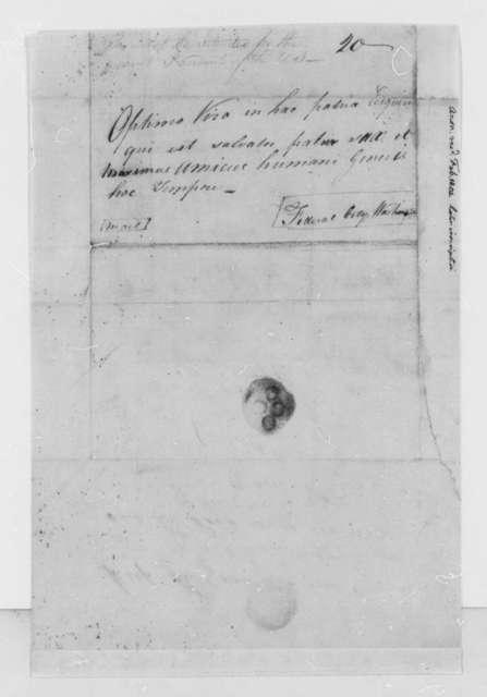 Anonymous to Thomas Jefferson, February 18, 1804
