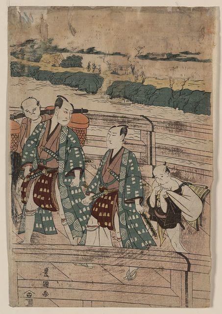 Azumabashi o wataru ichikawa omezō to sawamura gennosuke