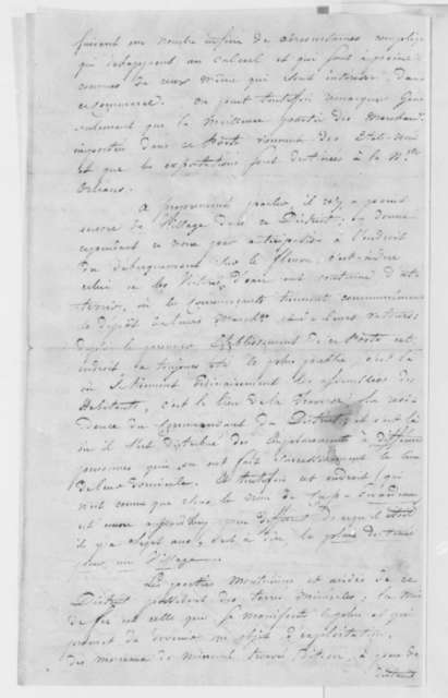 B. Cousins to Charles Gratiot, August 24, 1804, in French