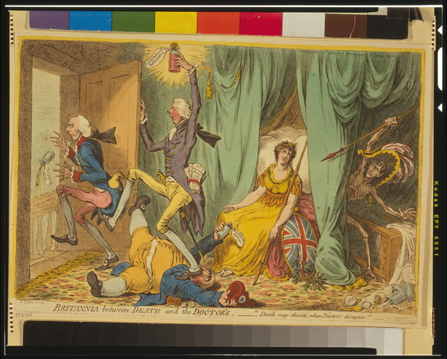 Britannia between death and the doctor's / Js Gillray inv. & fect.
