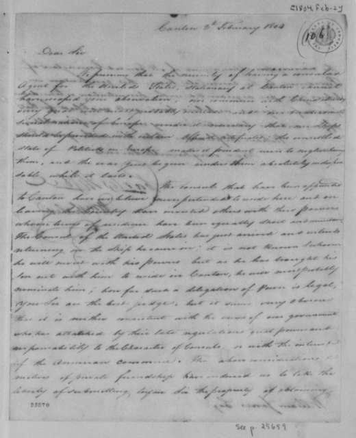 Charles Higbee and William Thaler to William Jones, February 2, 1804