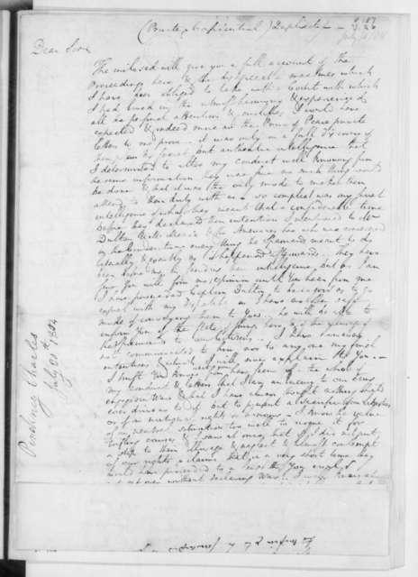 Charles Pinckney to James Madison, July 30, 1804.