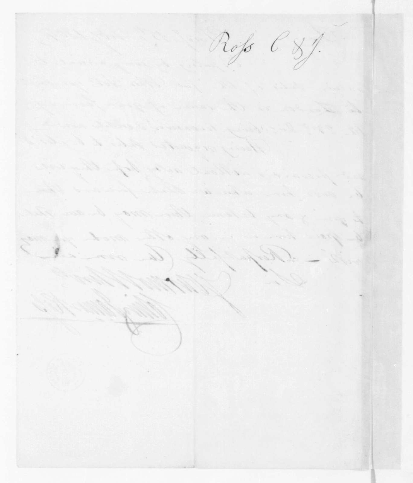 Colin and James Ross to James Madison, February 15, 1804.