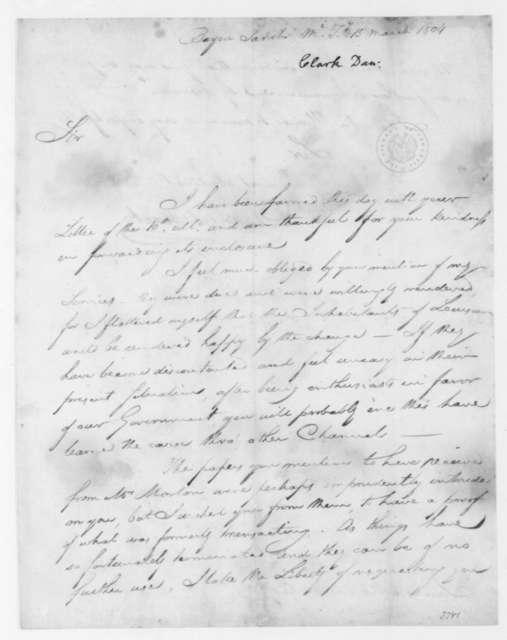 Daniel Clark to James Madison, March 15, 1804.