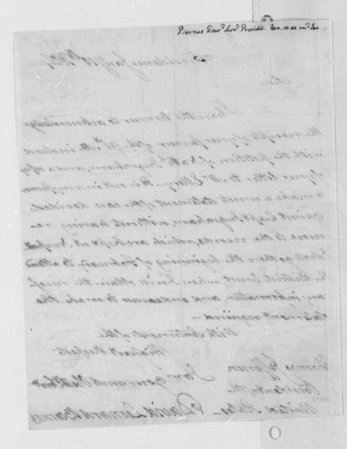 David Leonard Barnes to Thomas Jefferson, January 10, 1804
