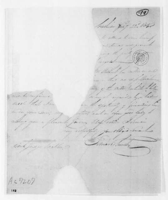 Edward Smith to Andrew Jackson, February 22, 1804