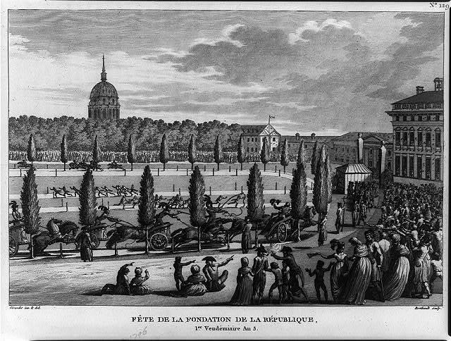 Fête de la fondation de la République, 1er Vendémiaire An 5 / Girardet inv. & del. ; Berthault sculp.