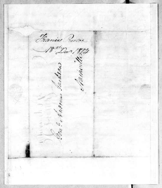 Francis Preston to Andrew Jackson, December 18, 1804