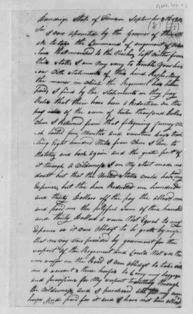 George Doherty to Thomas Jefferson, September 8, 1804, Endorsed by Thomas Jefferson