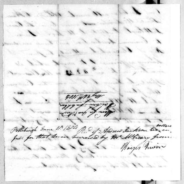 Hayes Irwin to Andrew Jackson, June 4, 1804