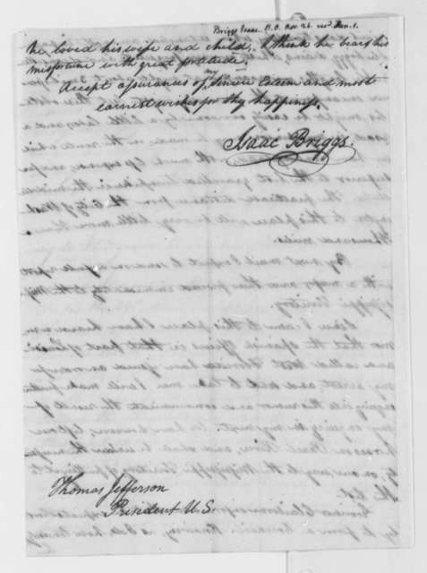 Isaac Briggs to Thomas Jefferson, November 26, 1804